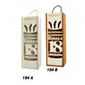 194. Skrzynki wino A i B