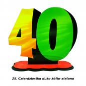 25. Czterdziestka żółto-zielona