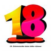 19. Osiemnastka żółto-różowa