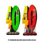 15. Czterdziestka żółto-zielona lub żółto-czerwona